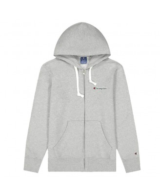 Champion Mens  SCRIPT LOGO Zip Hooded