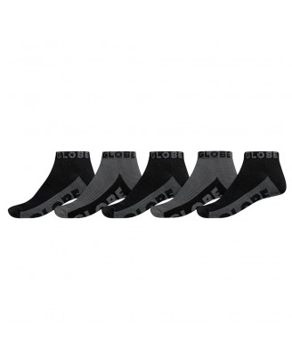 Globe BLACK GREY ANKLE 5PK  Socks