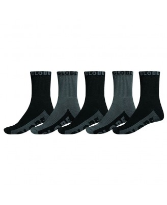 Globe BLACK/GREY CREW 5PK  Socks