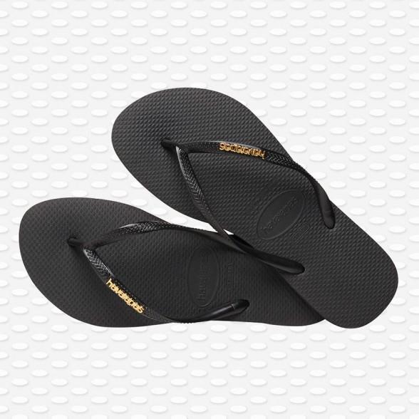 Havaianas Women SLIM LOGO METALIC Slippers