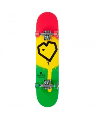 "BLUE PRINT Spray Heart Rasta 8.0"" Complete Skate"