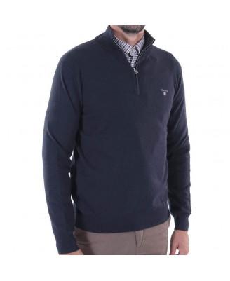 Gant Mens COTTON WOOL HALF ZIP Sweater