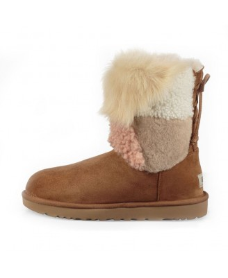 UGG CLASSIC SHORT PATCHWORK FLUFF Boots